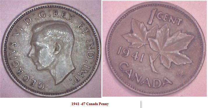 Http Coinscurrency Com Canada Penny 1941 D7 Jpg
